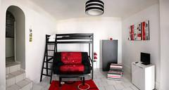 Gîte lumineux et confortable avec une belle hauteur sous plafond
