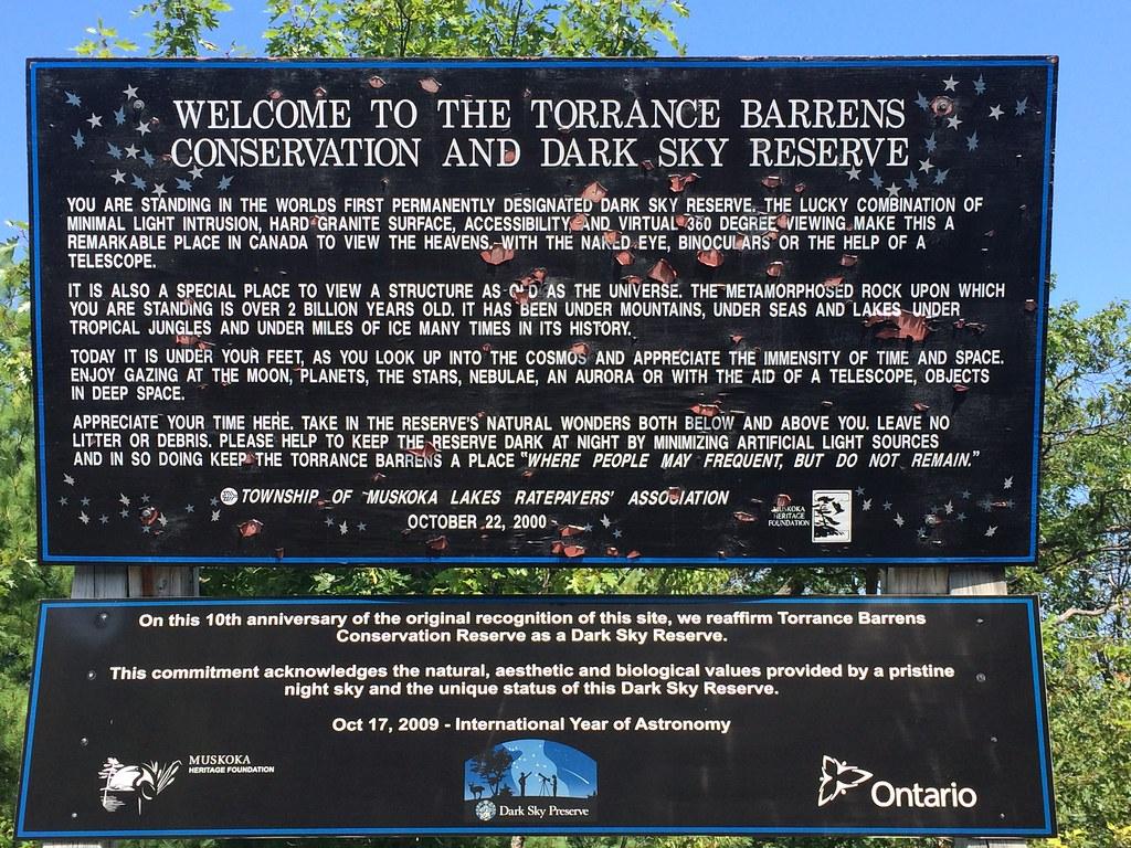 Torrance Barrens Dark Sky Reserve in Muskoka