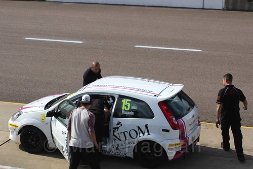 Sikander Hussain in Race 1, Fiesta Junior Championship, Rockingham, Sept 2015