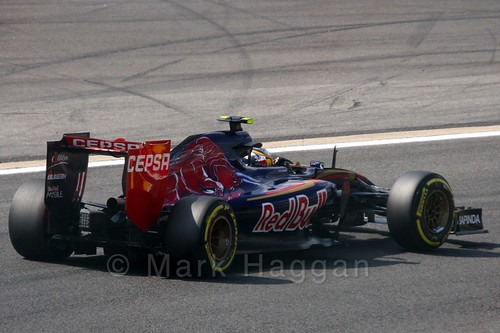 Carlos Sainz Jr in Free Practice 2 at the 2015 Belgian Grand Prix