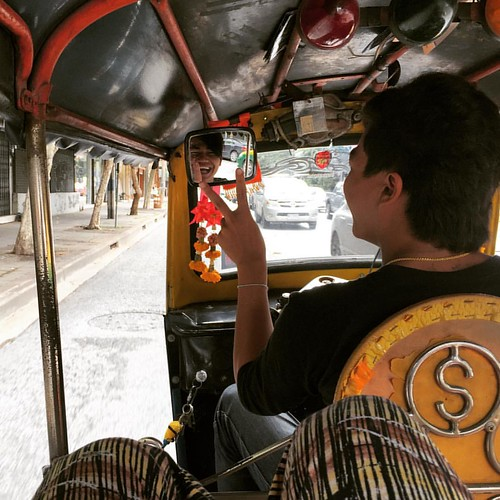 Sum - my personal #tuktuk #driver for today (only those with yellow flags! ;)  @ #Bangkok #Thailand #thailoup #traveloup