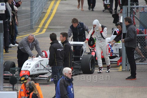 Louis Deletraz heading for the grid for the first Renault 2.0 race at Silverstone 2015