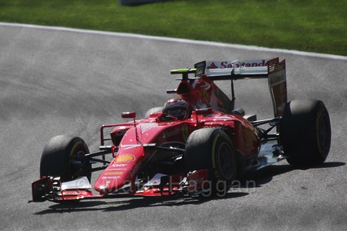 Kimi Raikkonen in Free Practice 3 for the 2015 Belgium Grand Prix