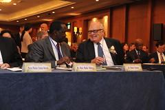Raila Odinga and Ed Feulner