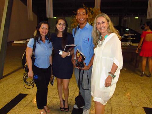 Poliane Torres, Tamires e Wesley Rodrigues e eu, ali, orgulhosa da minha profissão de jornalista
