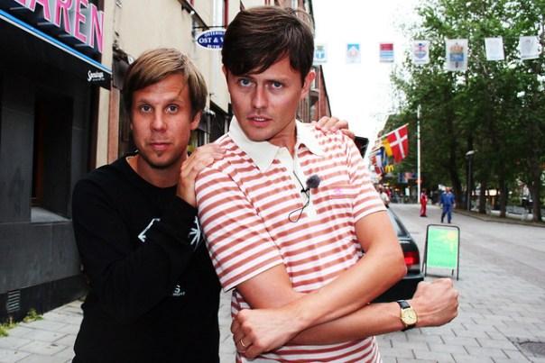 Filip & Fredrik, posing about