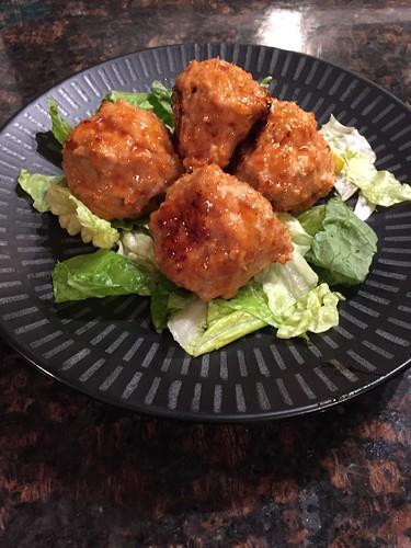 Sweet n Spicy chicken meatballs