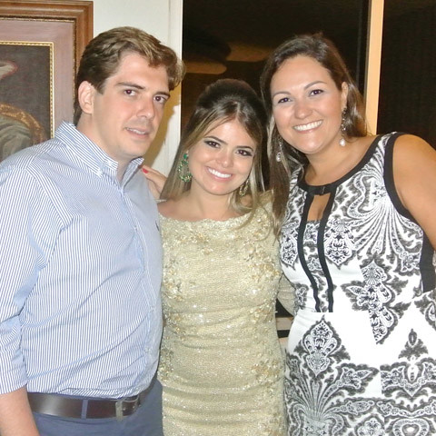 Rafael, Ana Lúcia e Alice dos Santos Carvalho.