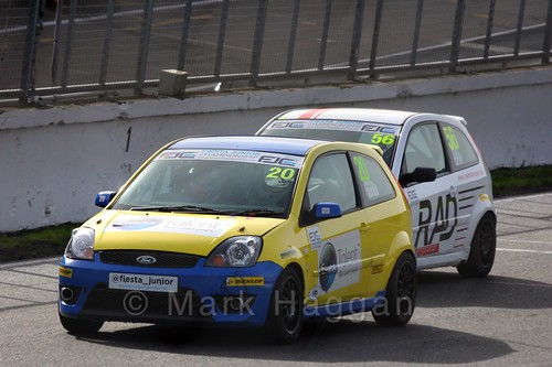 Ronan Quinn in the Fiesta Junior Championship, Brands Hatch, 2015