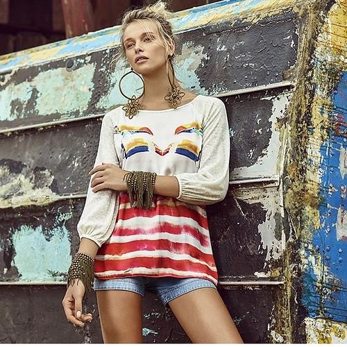 Todo o frescor do litoral, com esta bata maravilhosa da Scalon Fashion, na ANZU