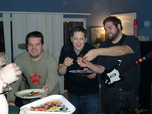 Chad's 2nd-to-last snowy party - bacon served to Chad, ,Eli 109554704_fe342f4e67_o
