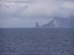 Ocean mountain clouds alaska