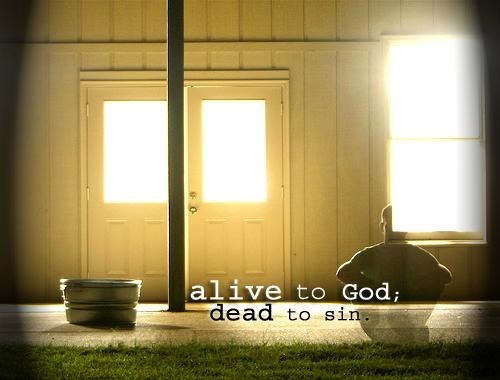 Alive to God; dead to sin