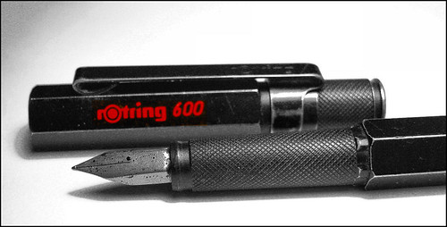 Rotring 600 fountain pen - my all time favourite pen