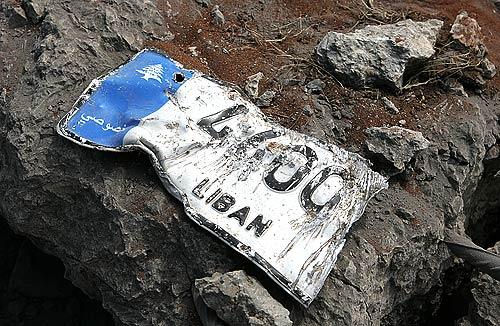 from a blown up minivan, August 4 2006