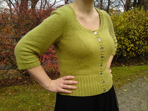 finished tea time cardigan