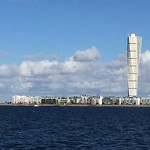"""Turning Torso in Malmö. #malmö #turningtorso #iphone5s #awesomepicture #ribersborg #strand #water #öresund #sweden <a style=""""margin-left:10px; font-size:0.8em;"""" href=""""http://www.flickr.com/photos/131645797@N05/21106719783/"""" target=""""_blank"""">@flickr</a>"""
