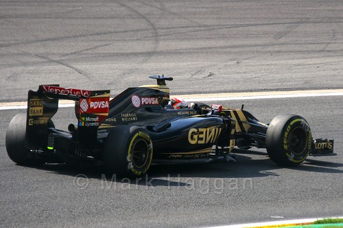 Romain Grosjean in Free Practice 2 at the 2015 Belgium Grand Prix
