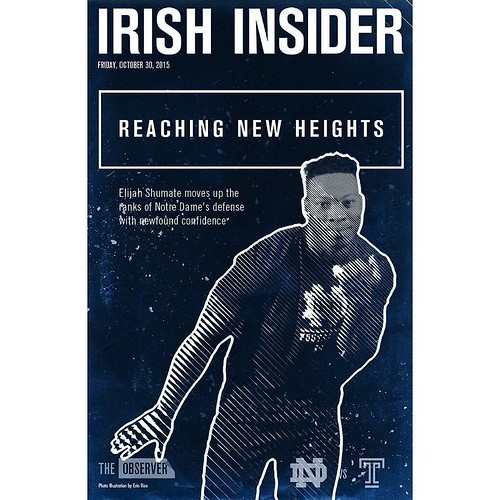 Safety Elijah Shumate has become a steady force in the secondary and is featured on this week's Irish Insider cover—read all about it before ND takes on Temple tonight: bit.ly/1KNxMfr