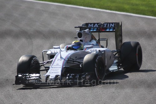 Felipe Massa in Free Practice 1 for the 2015 Belgium Grand Prix