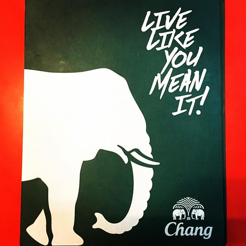 LIVE LIKE YOU MEAN IT!  #Chang #beer  @ #khaosanroad #Bangkok #Thailand #thailoup #traveloup