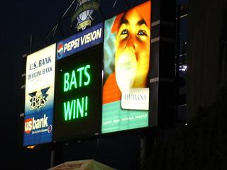 Bats Win!