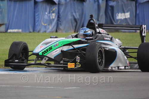 Sean Walkinshaw Racing's Jordan Albert in BRDC F4 at Donington Park, September 2015