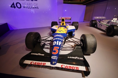 The FW14B Williams F1 at the Autosport International Show 2017