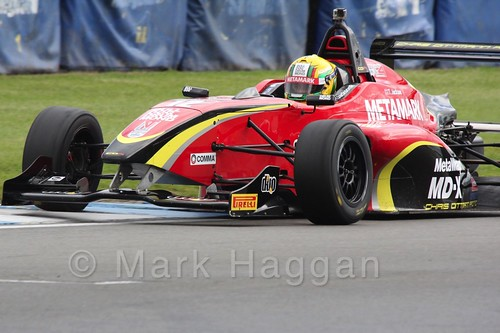 Chris Dittmann Racing's Tom Jackson in BRDC F4 at Donington Park, September 2015