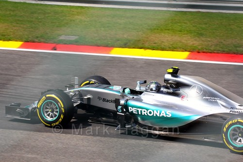 Nico Rosberg in Free Practice 2 for the 2015 Belgium Grand Prix