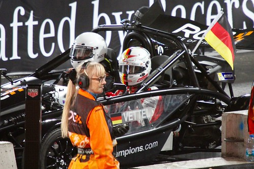 Sebastian Vettel in The Race of Champions, Olympic Stadium, London, November 2015