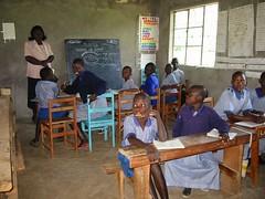 Unterricht in der Gehörlosenschule in Lambwe