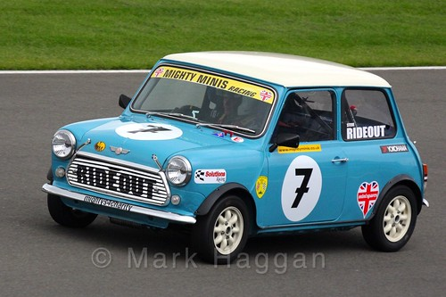 Steve Rideout in Mighty Minis at Donington Park, October 2015