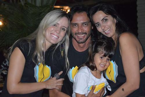 Pollyane, Flávio, Patrícia e a filha, Bárbara