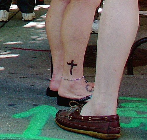 Cute Cross tattoo picture