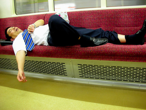 Drunk Guy on Marunouchi Line