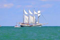 Tall Ship on the lake