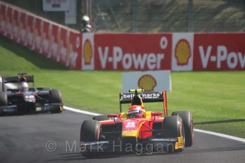 Alexander Rossi in the GP2 Feature Race at the 2015 Belgium Grand Prix