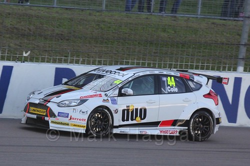 James Cole in BTCC at Rockingham 2015