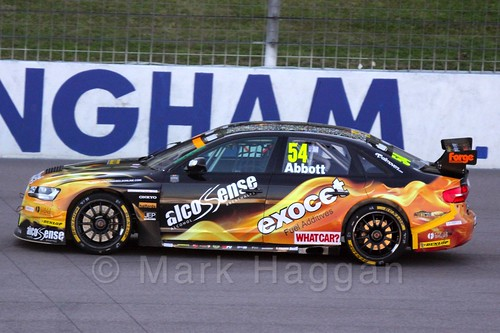 Hunter Abbott in BTCC at Rockingham 2015