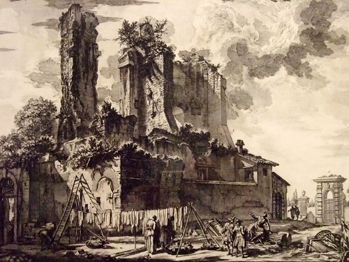 Etching of the Fountain of the Acqua Giulia by...