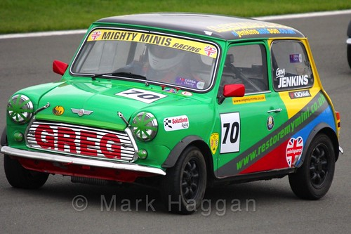 Greg Jenkins in Mighty Minis at Donington Park, October 2015