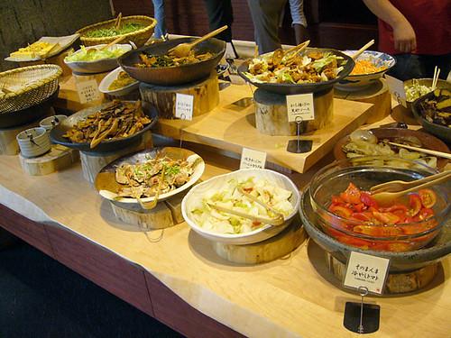 A buffet-style restaurant in Chiba Sogo