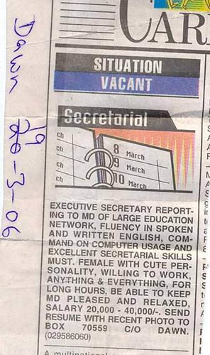 Secretary Wanted!