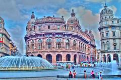 Square in Genova (Italy) in HDR