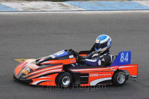 Matt Robinson in his Anderson TM in Superkart racing during the BRSCC Winter Raceday, Donington, 7th November 2015