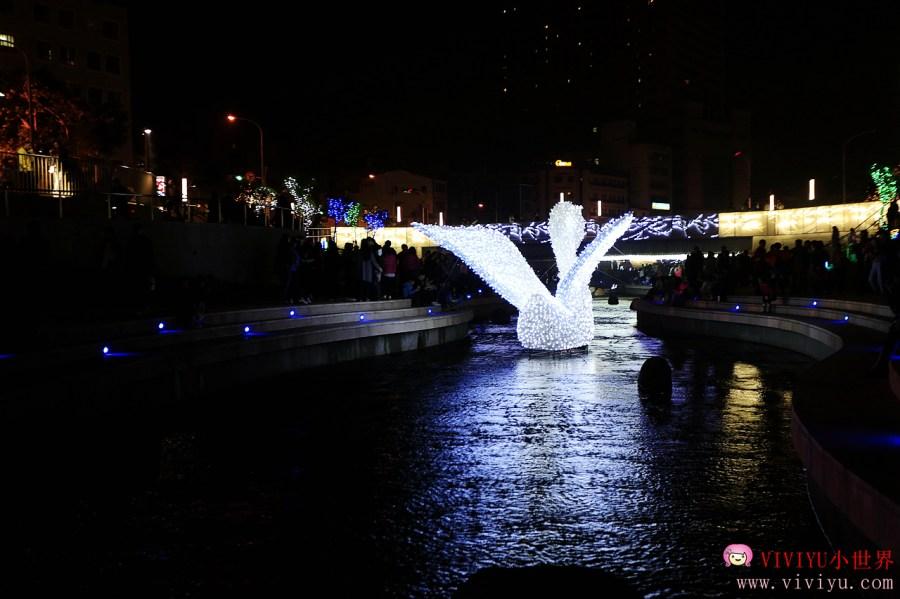 LED裝置藝術,中西區景點,仁愛醫院,台中景點,柳川藍帶水岸,水仙宮 @VIVIYU小世界