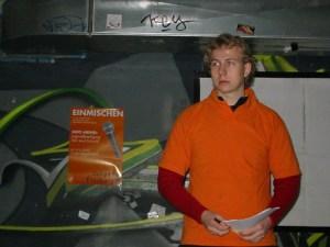 Martin Jost bei einer Veranstaltung von Junges Freiburg im  JugendDenkMal (2006)