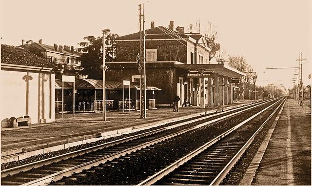 Ricordi della stazione ferroviaria di Battaglia Terme (PD)