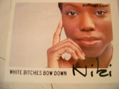 White bitches bow down